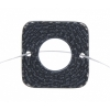 Pewter Connector - Square Closed Weave 19mm Gunmetal